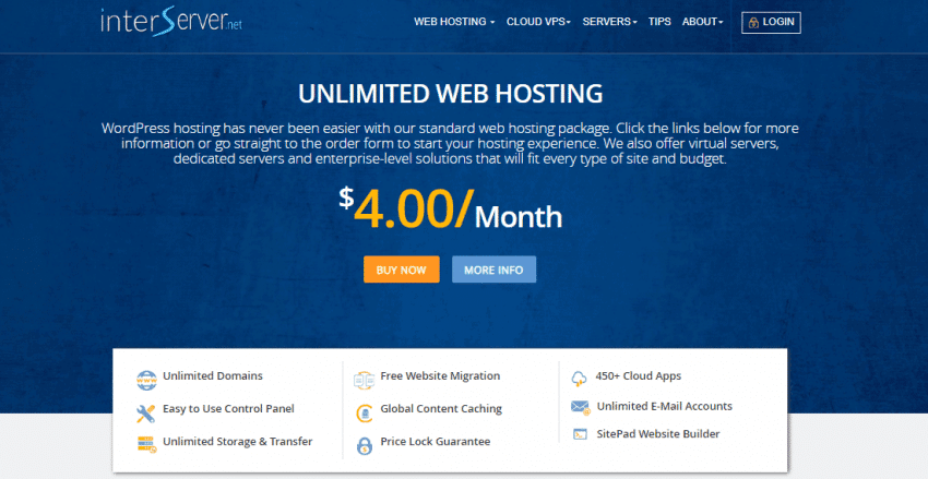InterServer web hosting review